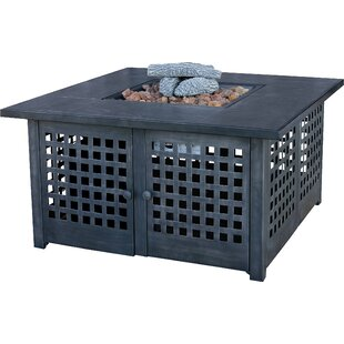 UniFlame Metal Propane Fire Pit Table