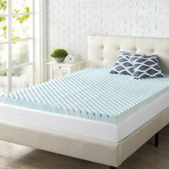 Chun Yi Natural Breathable Comfort 4 In Gel Memory Foam Mattress Topper Reviews Wayfair