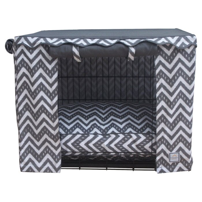 Dog Crate Covers bowhausnyc fair isle dog crate cover & reviews | wayfair