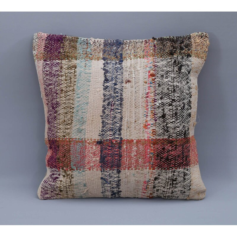 Dakota Fields Square Wool Pillow Cover And Insert Wayfair