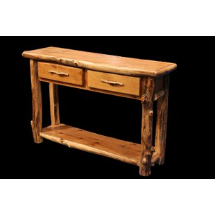 Amias 2 Drawer Console Table with Shelf