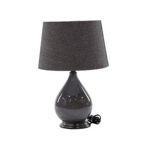 Lotts Modern Matte Gunmetal 25 Table Lamp