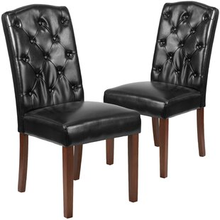 Orland Tufted Solid Wood Parsons Dining Chair (Set of 2) by Charlton Home