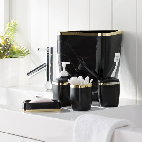 Black Bathroom Accessories Set Ierie Com