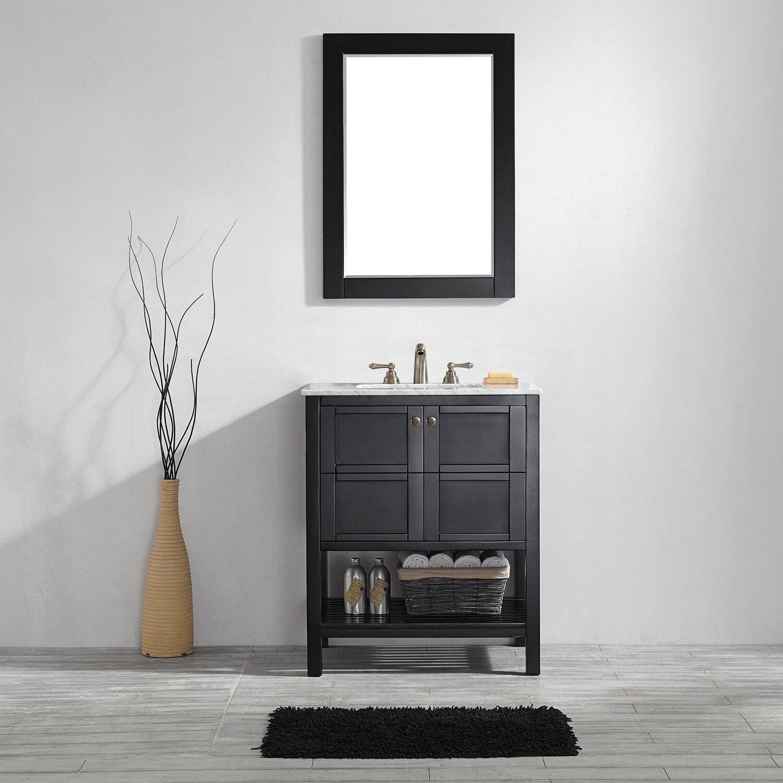 Beachcrest Home Caldwell 30 Single Bathroom Vanity Set With Mirror Reviews Wayfair
