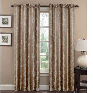 danica sheer rod pocket curtain panels set of 2
