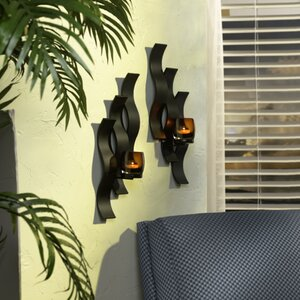 Solaris Triple Wave Glass Sconce (Set of 2)