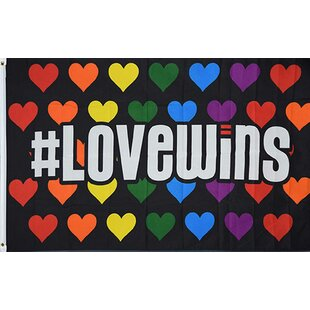 Love Wins 2-Sided Polyester 3x5 Ft Rectangle Flag by NeoPlex