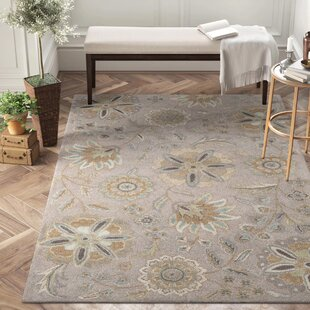 Jasmine Gray Tufted Wool Area Rug by Birch Lane™ Heritage