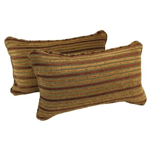 Corded Autumn Stripes Lumbar Pillow (Set of 2)