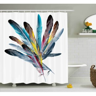 Affordable Price Feather  Decor Shower Curtain By East Urban Home