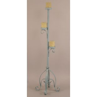 Iron Plain Pedestal Candle Stand