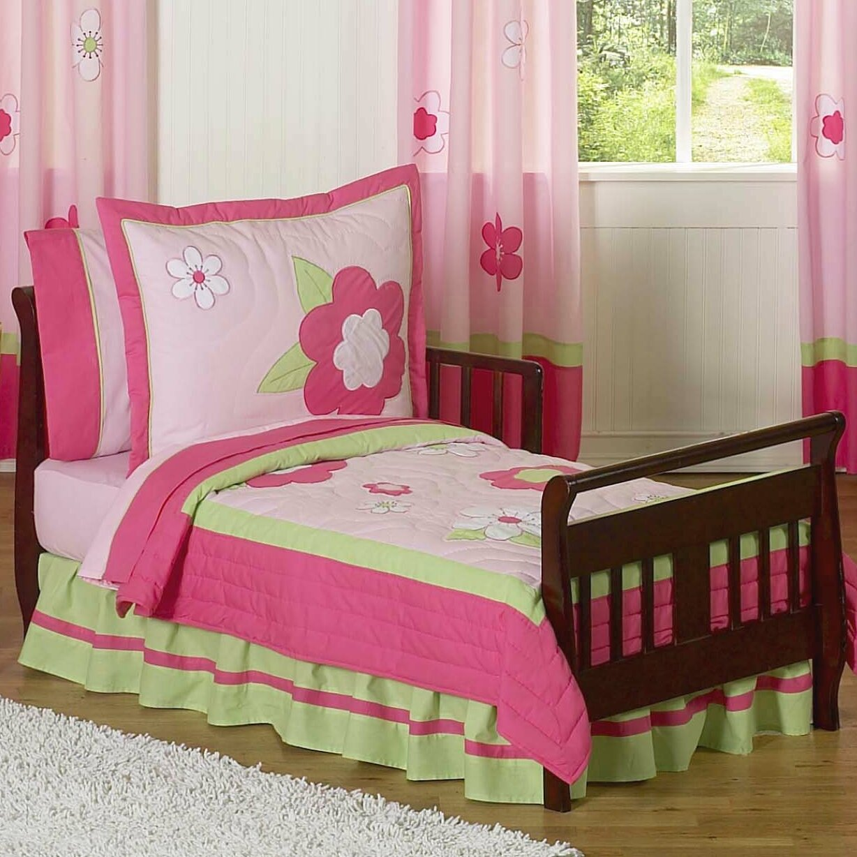 Flower 5 Piece Toddler Bedding Set