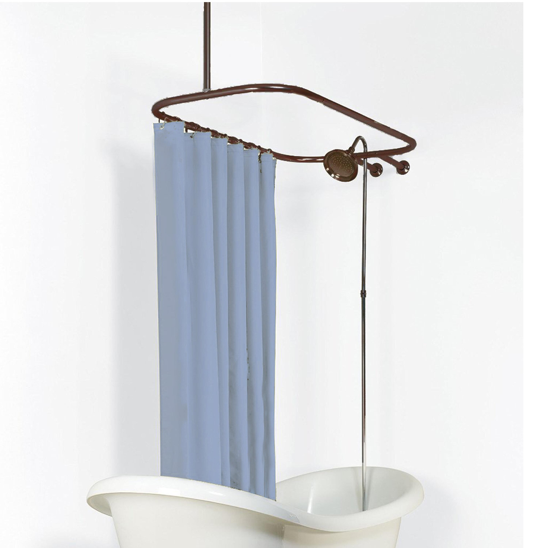 Never Rust 57 75 Oval Shower Curtain Rod