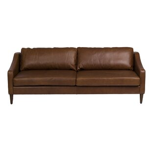 Bucoli Leather Sofa by Bungalow Rose