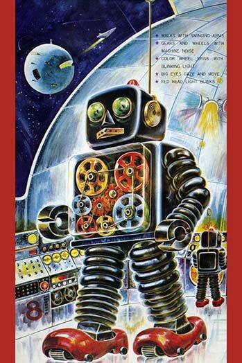 Buyenlarge \'Gear Robot\' Wall Art | Wayfair