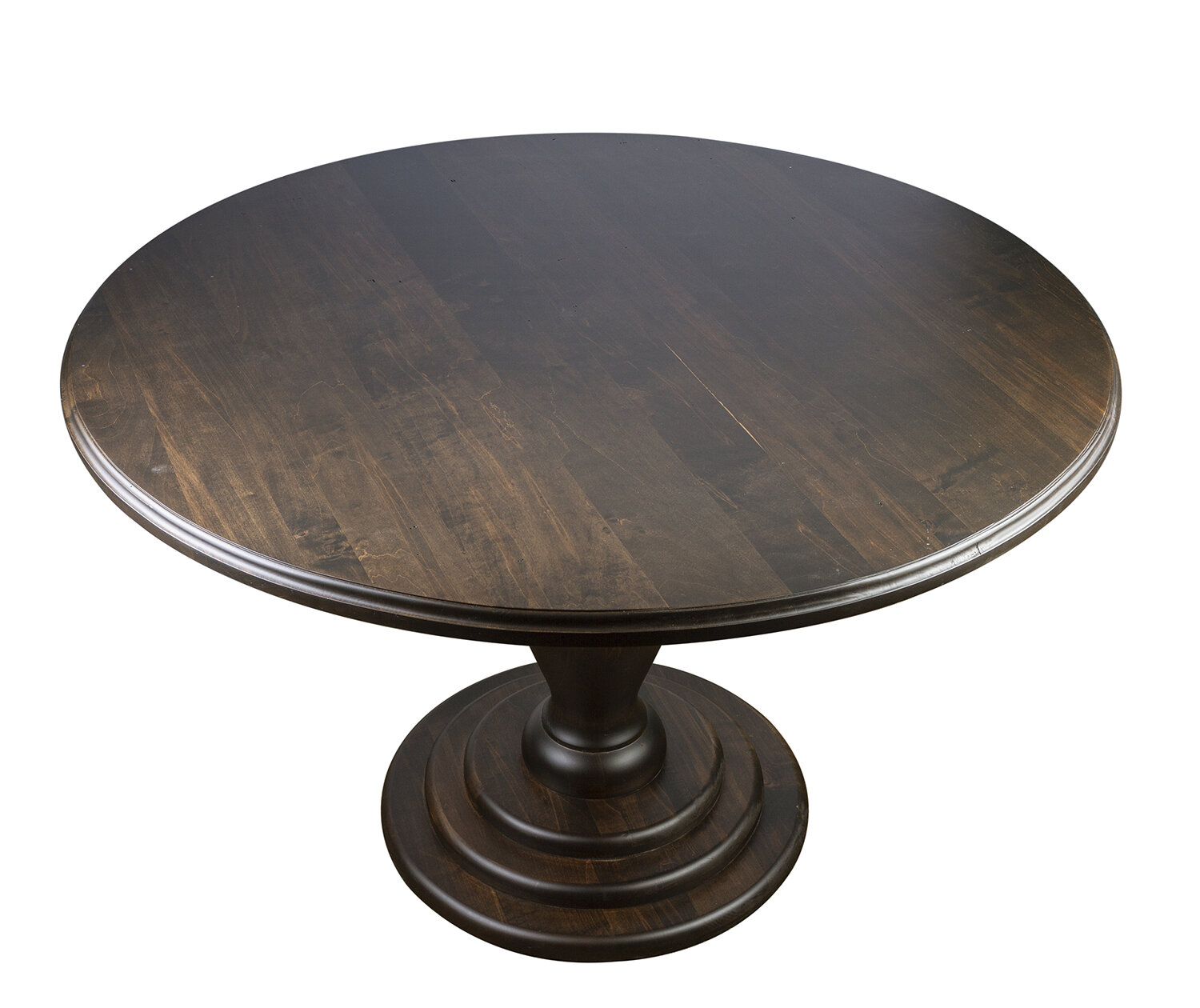 Picture of: Alcott Hill Leyt Round Pedestal Solid Wood Dining Table