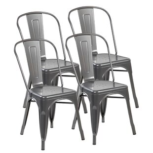 Grady Stacking Patio Dining Chair (Set of 4)