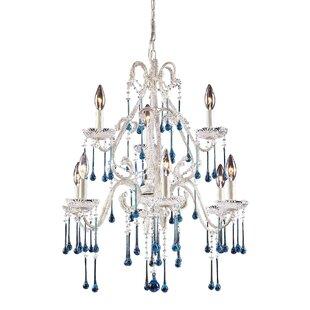 White milk glass chandelier wayfair driffield 9 light glass crystal chandelier aloadofball Images