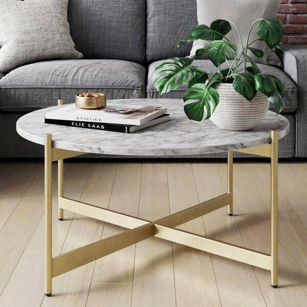 Marble And Gold Coffee Table Wayfair