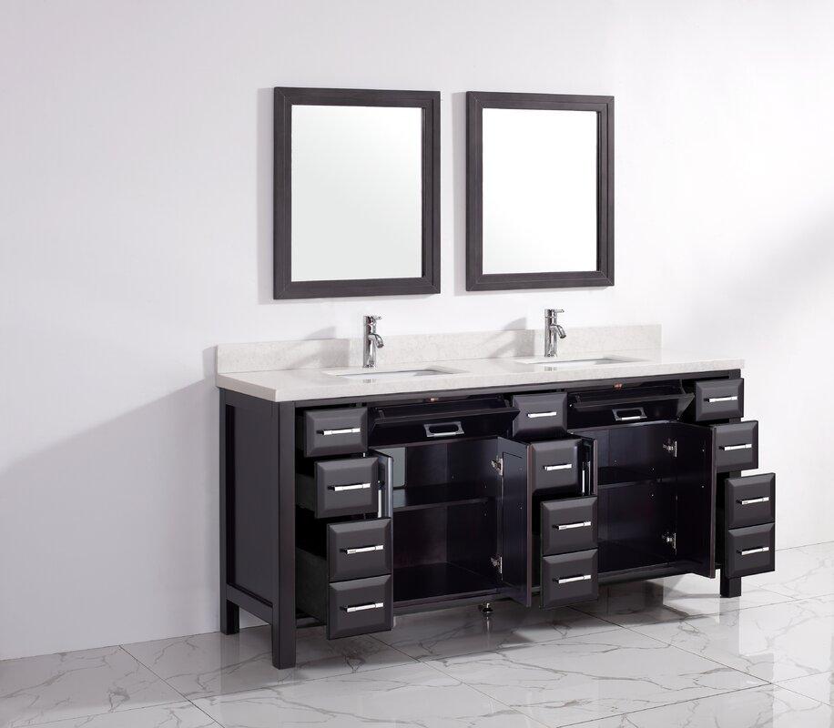 Caledonia 75 Double Bathroom Vanity Set