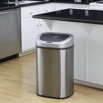 Fresh Oakwood Steel 21 1 Gallon Motion Sensor Trash Can For Your House - Model Of motion sensor kitchen trash can Minimalist