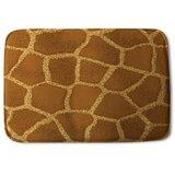 Dounton Giraffe Print Designer Rectangle Non-Slip Animal Print Bath Rug
