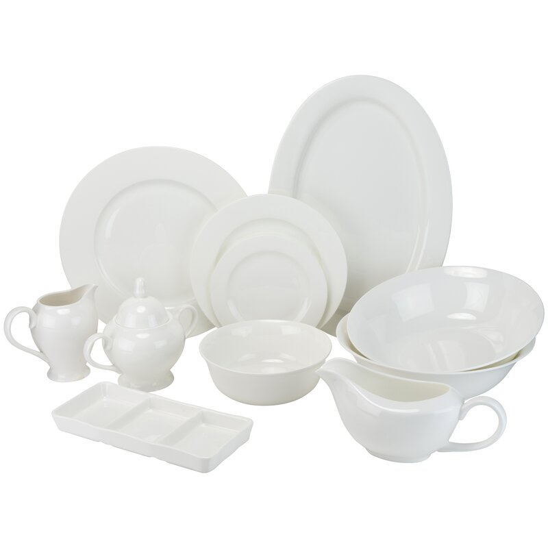 Maret Bone China 32-Piece Dinnerware Set, Service for 6