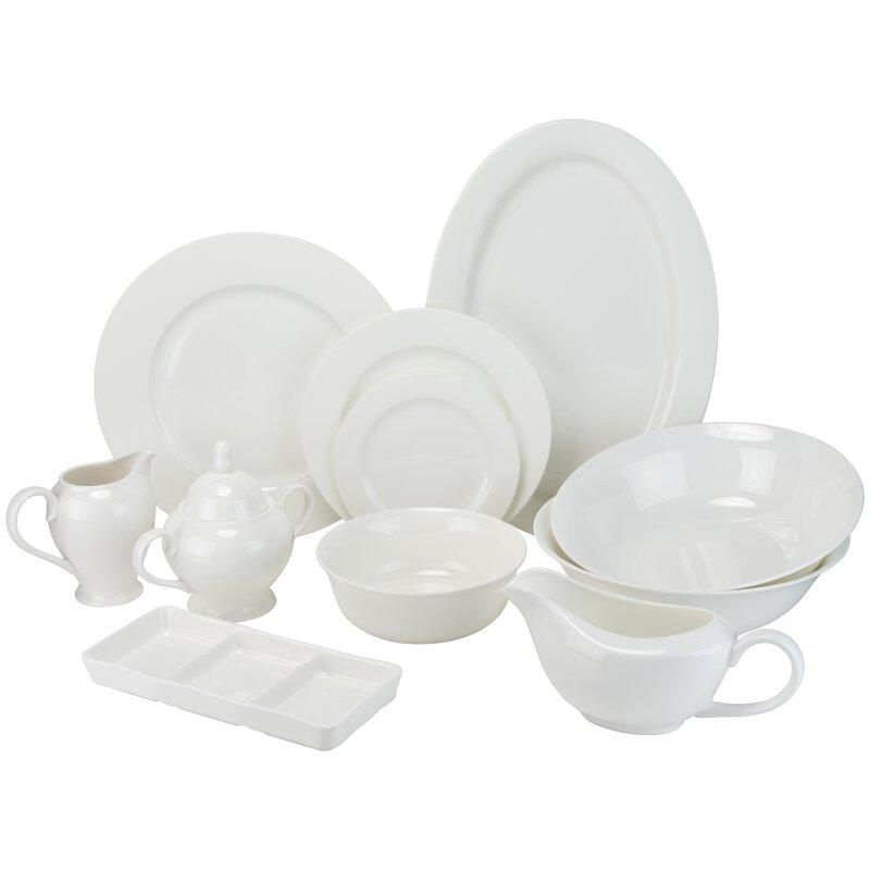 Maret Bone China 32 Piece Dinnerware Set Service for 6  sc 1 st  Wayfair & Darby Home Co Maret Bone China 32 Piece Dinnerware Set Service for ...