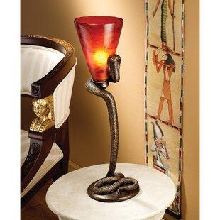 Uraeus Egyptian Cobra God Altar 21 Torchiere Lamp