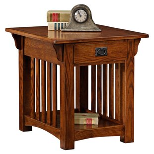 Brockton End Table With Storage by Loon Peak Great Reviews