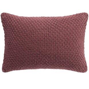 Habit Knit Decorative Cotton Lumbar Pillow