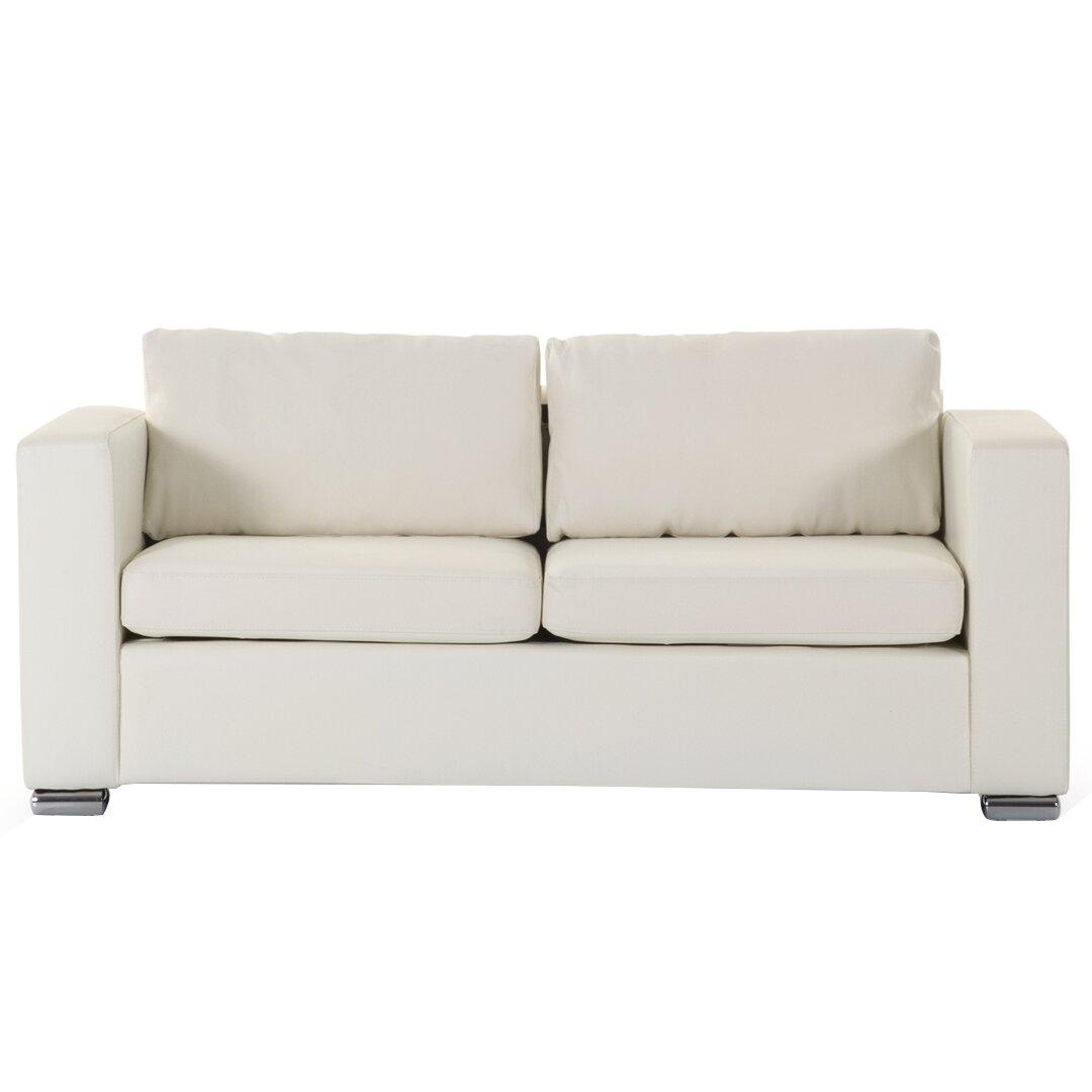 Wade Logan Modern Leather Sofa