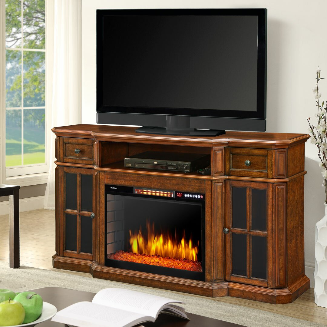 """Muskoka Sinclair 60"""" TV Stand with Electric Fireplace ..."""
