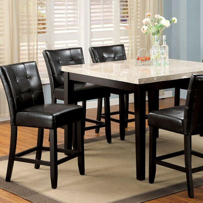 Darby Home Co Arick Square Marble Top Counter Height Dining Table