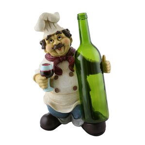 Luann Happy Chef 1 Bottle Tabletop Wine Rack by Fleur De Lis Living
