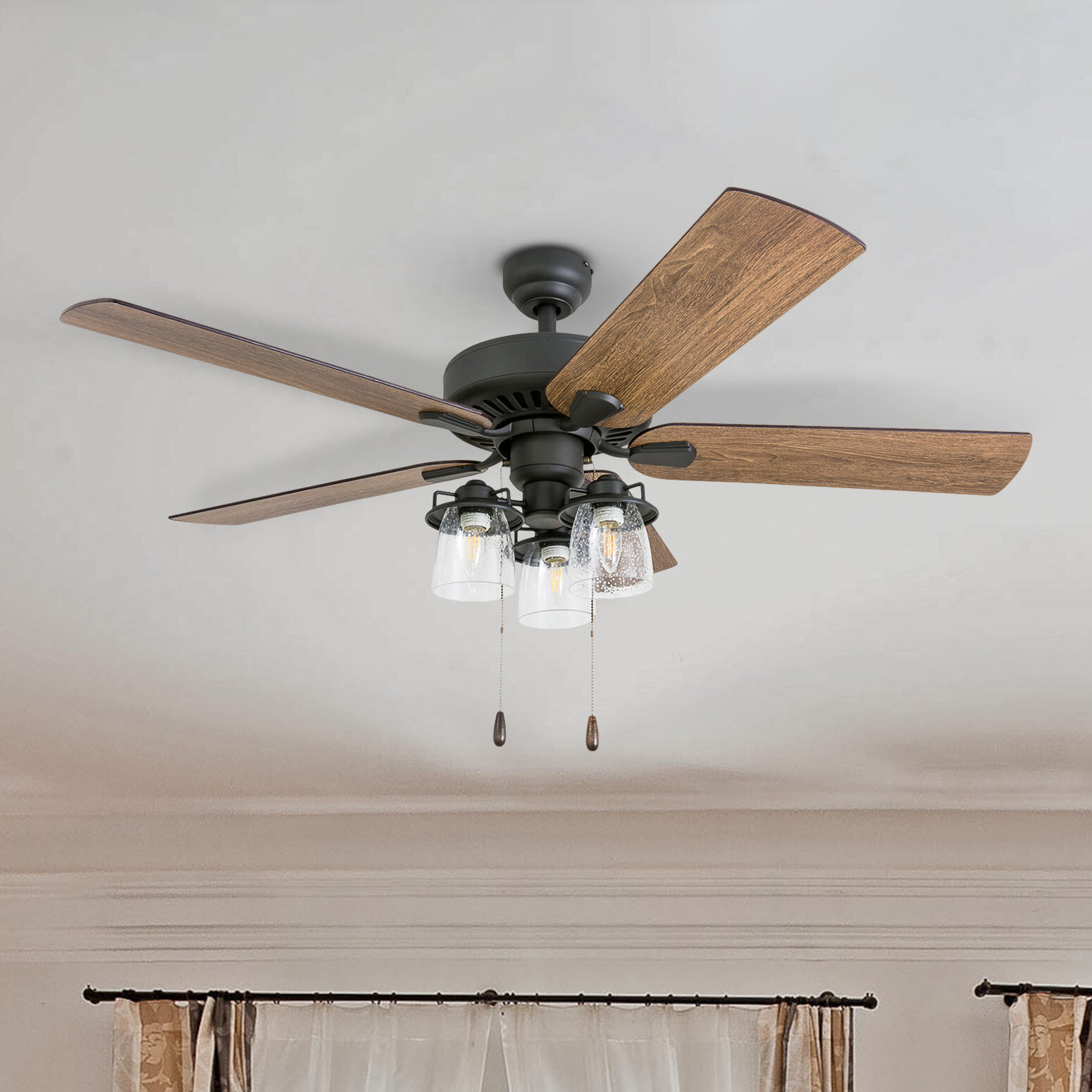 Birch Lane 52 Lorinda 5 Blade Standard Ceiling Fan With Light Kit Included Reviews Wayfair