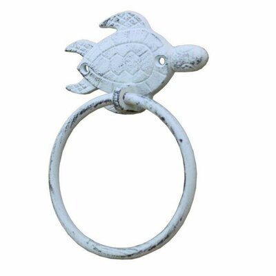 Sea Turtle Towel Ring Handcrafted Nautical Decor