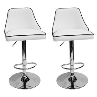Chontel Adjustable Height Swivel Bar Stool (Set of 2)