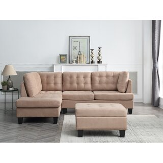 Americus Reversible Modular Sectional with Ottoman by Three Posts Teen SKU:AE181327 Information