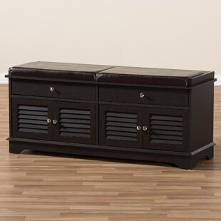 Pierce 2 Drawer Shoe Wood Storage Bench