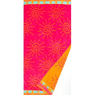 Sun Fun Jacquard Weaved 100% Cotton Beach Towel