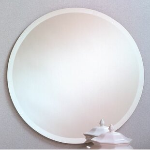 Read Reviews Printers Row Contemporary Beveled Edge Round Wall Mirror By Orren Ellis