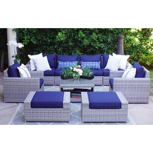 Burkley 9 Piece Sectional Set with Cushions
