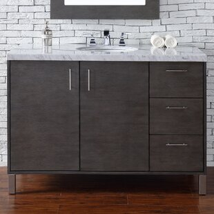 Cordie 48 Single Silver Oak Granite Top Bathroom Vanity Set by Orren Ellis