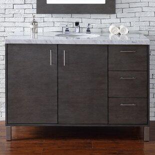 Cordie 48 Single Silver Oak Wood Base Bathroom Vanity Set by Orren Ellis