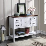 Brochu 40 Solid Wood Console Table by Longshore Tides