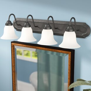 Best Reviews Gurney 4-Light Metal Vanity Light By Three Posts