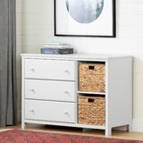 Cotton Candy 3 Drawer Dresser with Cubbies