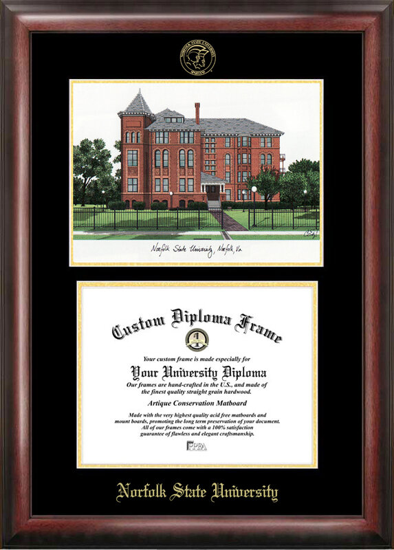 Campus Images Ncaa Norfolk State Spartans Gold Embossed Diploma With Campus Images Lithograph Frame Wayfair
